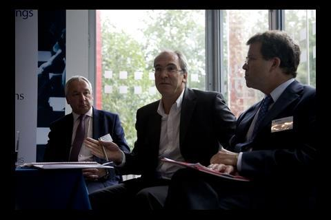 Stephen Stone, chief executive of Crest Nicholson, Peter Drummond, BDP chief executive, Nick Salisbury, head of structured finance at Barclays